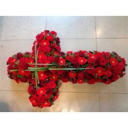 Croix de roses