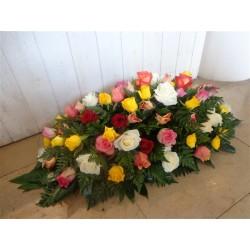 Raquette de roses multicouleurs